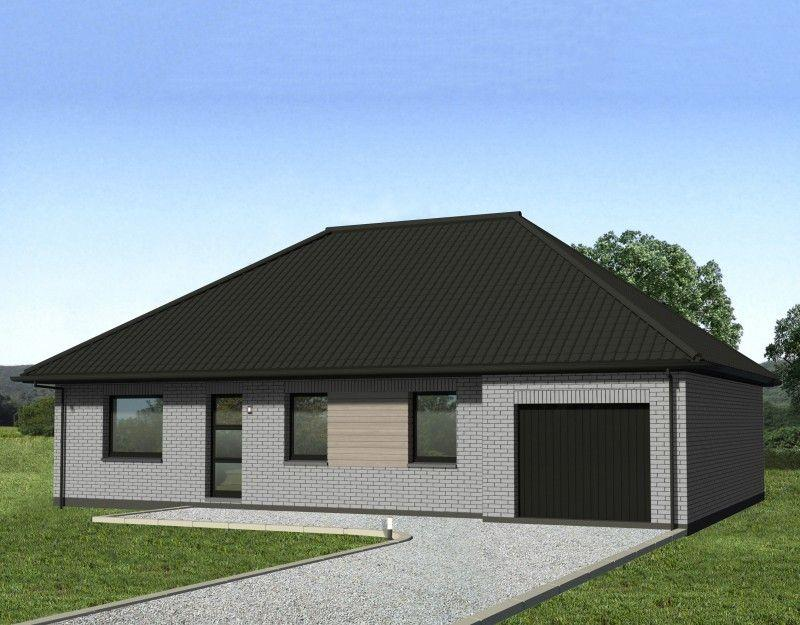 maison plain pied 4 pans avie home. Black Bedroom Furniture Sets. Home Design Ideas